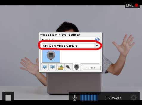 Justin TV Select Webcam
